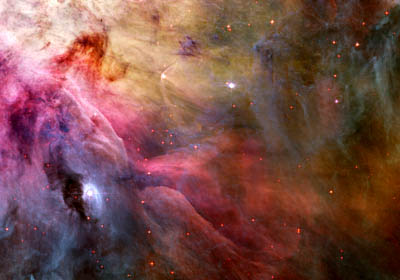 Abstract Art Found in the Orion Nebula, Credit: NASA, ESA, and The Hubble Heritage Team (STScIAURA)