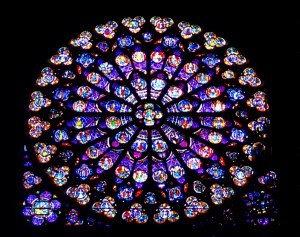 South Rose Window, Notre Dame Cathedral, Paris, France. Copyright 2000 by Blair Atherton