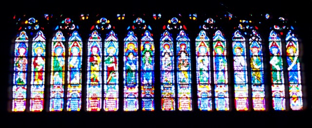 The Sixteen Prophets, Notre Dame Cathedral, Paris, France. Copyright 2000 by Blair Atherton