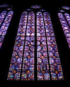 13th Century Stained Glass, Sainte-Chapelle Church, Paris, France Copyright 2000 by Blair Atherton