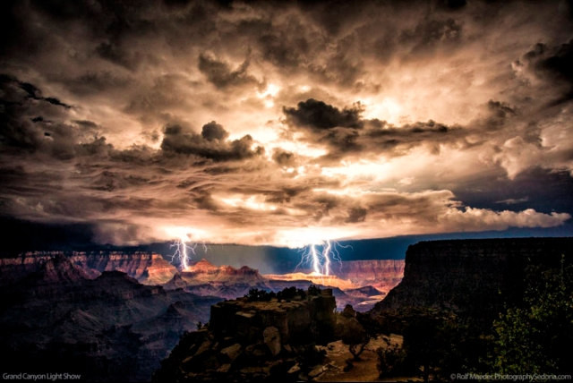 Lightning Storm Over the Grand Canyon Copyright by Rolph Maeder, Photography Sedona